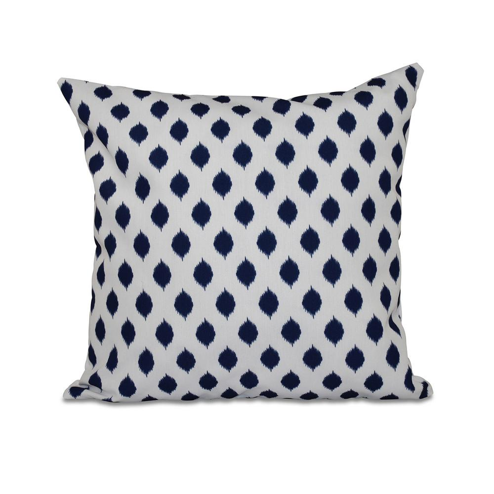 Throw Pillow Rental : 16 in. x 16 in. Cop-IKAT Geometric Print Pillow in Spring Navy-PGN244BL1-16 - The Home Depot