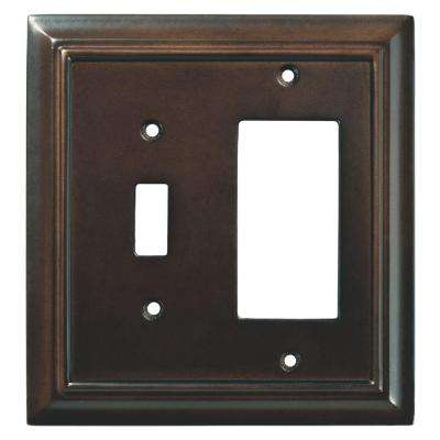 Architectural Wood Decorative Switch and Rocker Switch Plate, Espresso