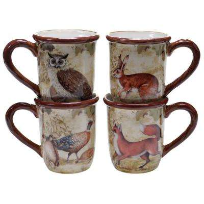 The Rustic Nature Collection 16 oz. Mug (Set of 4)