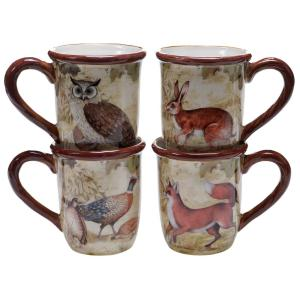 The Rustic Nature Collection 16 oz. Mug (Set of 4) by
