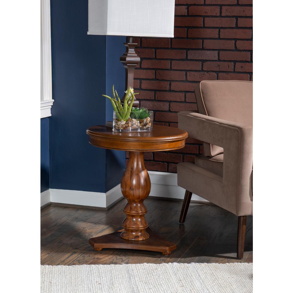 Cati Hazelnut Accent Side Table