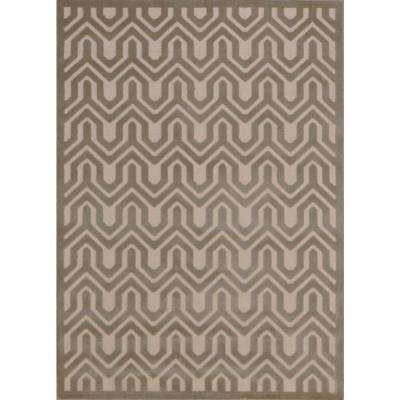 Ultima Ivory/Light Grey 5 ft. 3 in. x 7 ft. 3 in. Area Rug