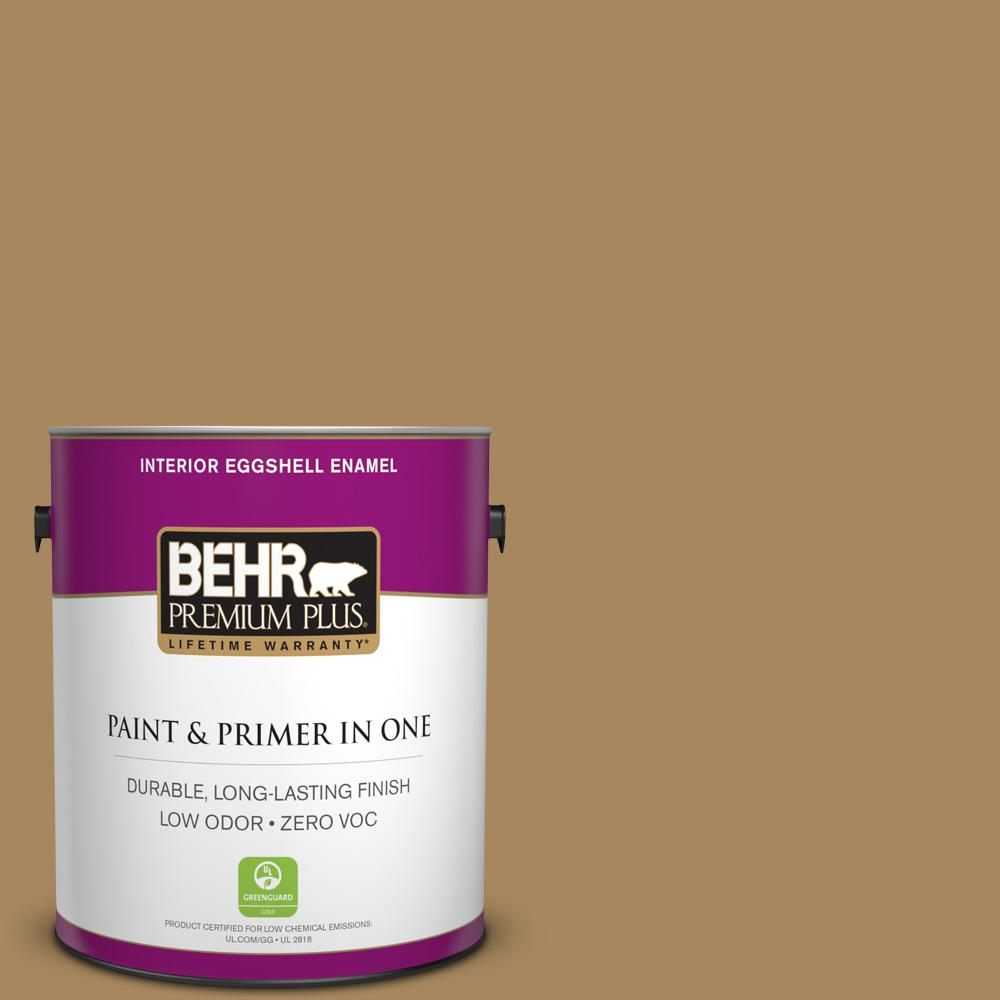 BEHR Premium Plus 1-gal. #N290-6 Trinket Gold Eggshell Enamel Interior Paint