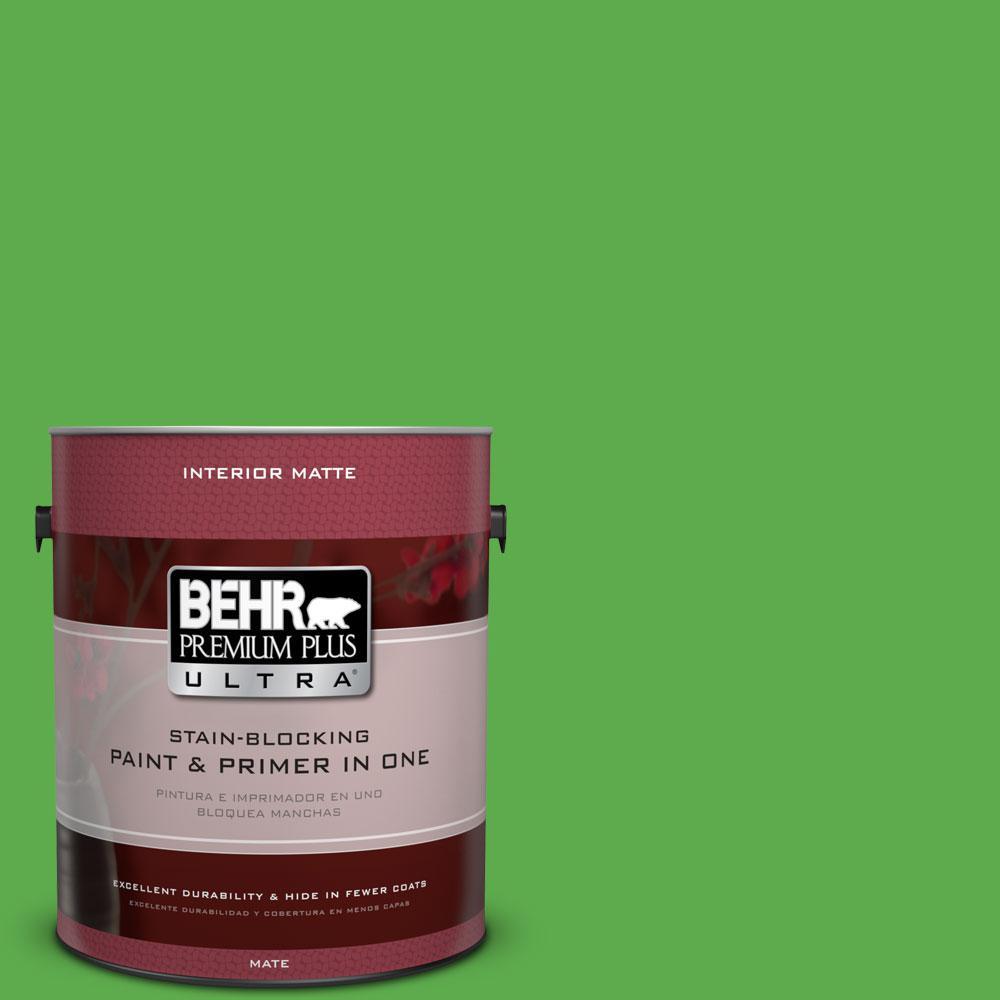 1 gal. #440B-6 Barnyard Grass Flat/Matte Interior Paint