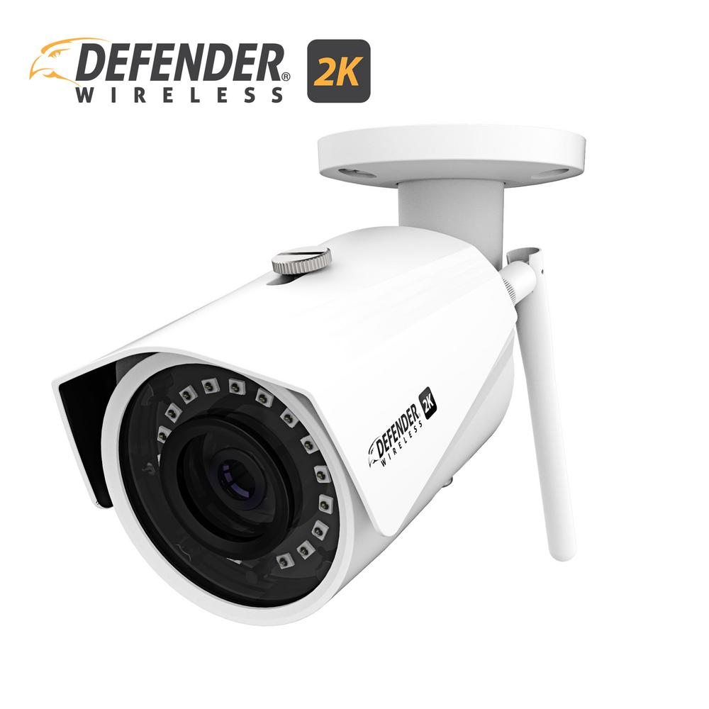 Defender 2K (4MP) Wireless Wide Angle Night Vision IP Camera with Remote  Mobile Viewing