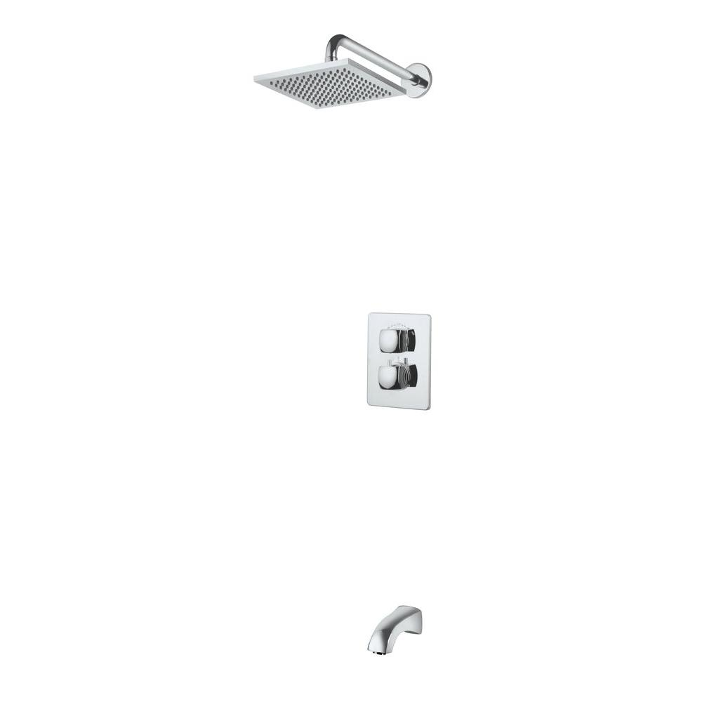 LaToscana Siena 2-Handle Tub and Shower Faucet in Chrome