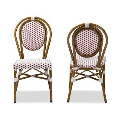 Gauthier Red and White Dining Chair (Set of 2)