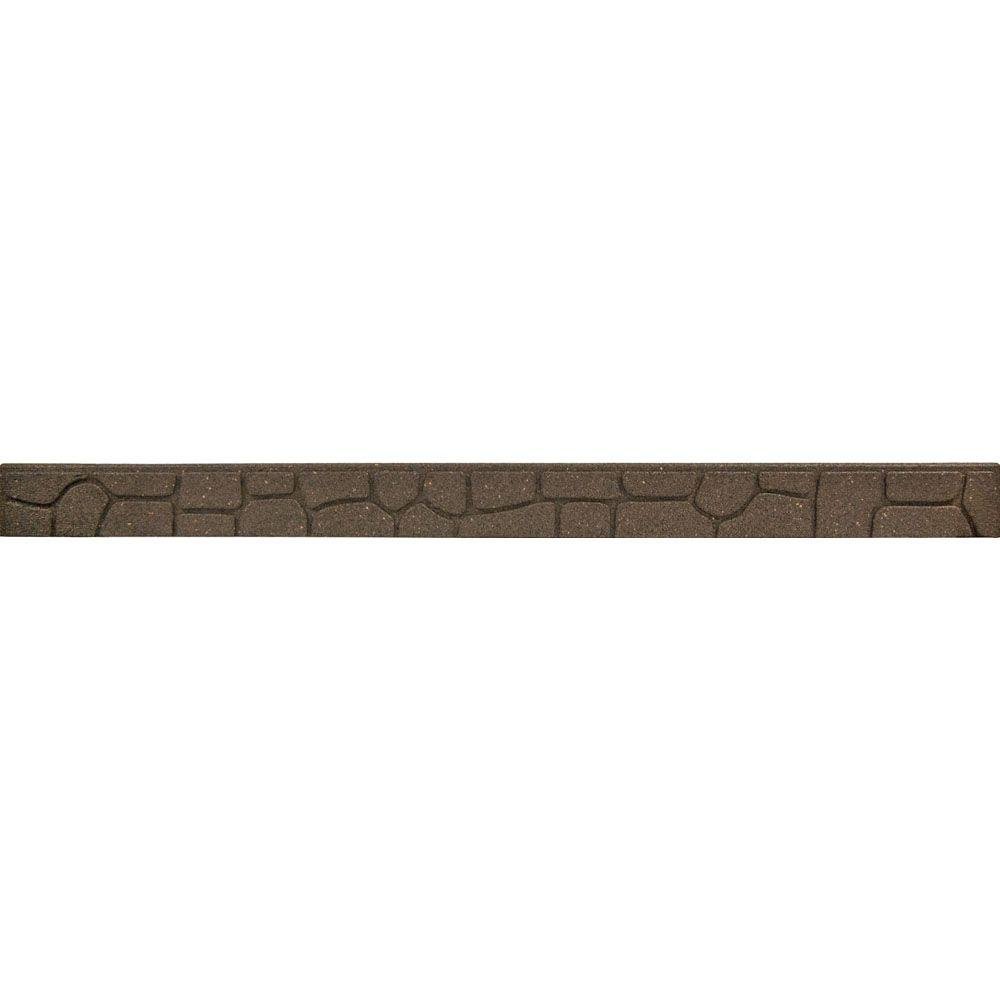 24 Ft Rubber Garden Edging Stone Border Brown Walkway