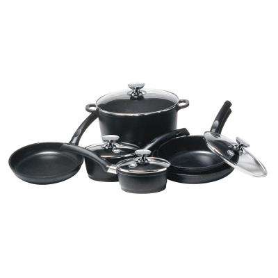 SignoCast 10-Piece Non-Stick Cast Aluminum Cookware Set with Lids