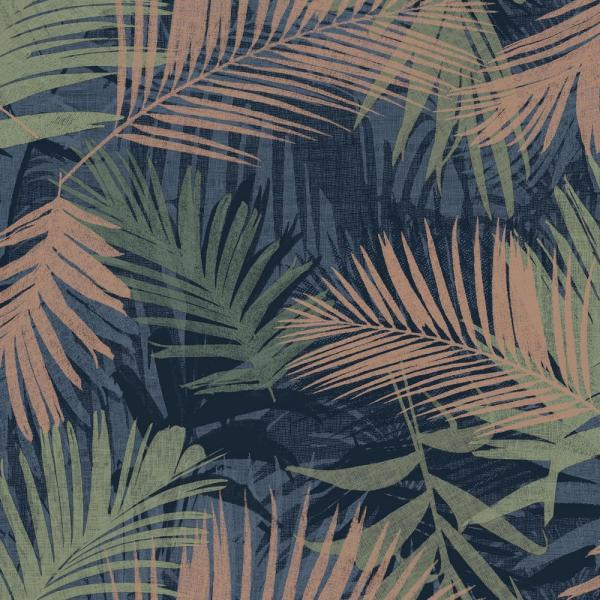 Graham & Brown Jungle Glam Blue, Green and Copper Removable Wallpaper