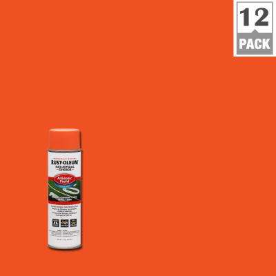 17 oz. Florescent Orange Athletic Field Striping Spray Paint (12-Pack)