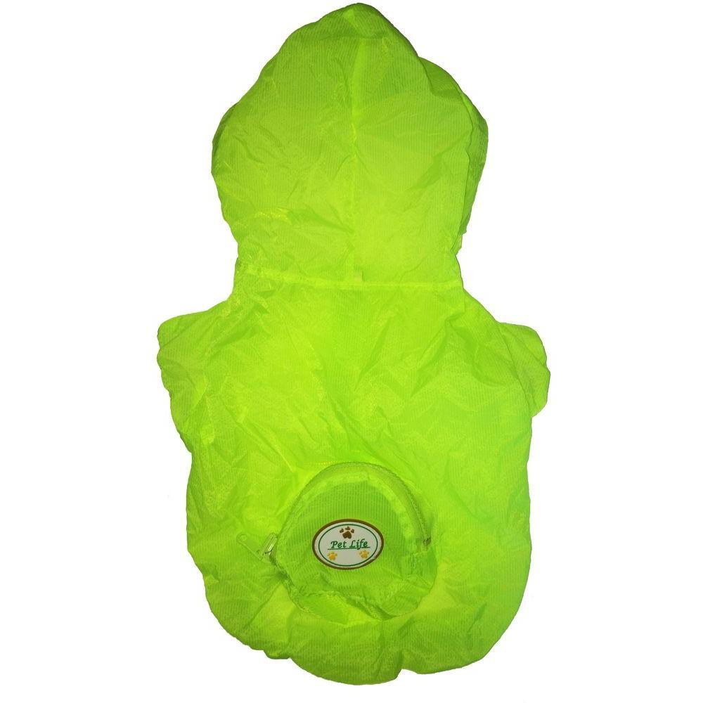Medium Yellow the Ultimate Waterproof Thunder-Paw Adjustable Zippered Folding Travel Dog Raincoat