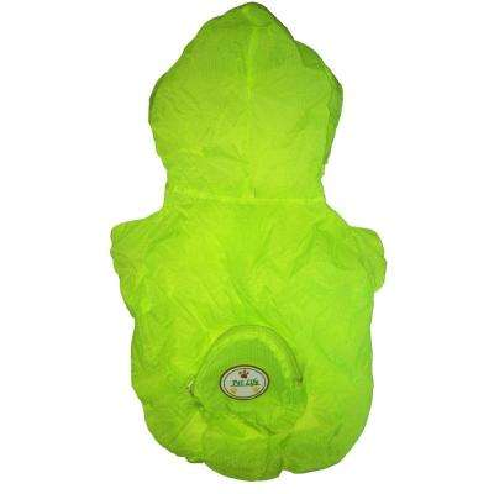 Small Yellow the Ultimate Waterproof Thunder-Paw Adjustable Zippered Folding Travel Dog Raincoat