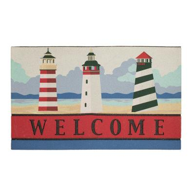 Beacons of the Ocean 18 in. x 30 in. Recycled Rubber Door Mat