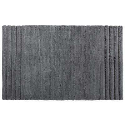 Empress 30 in. x 50 in. Cotton Bath Mat in Pewter