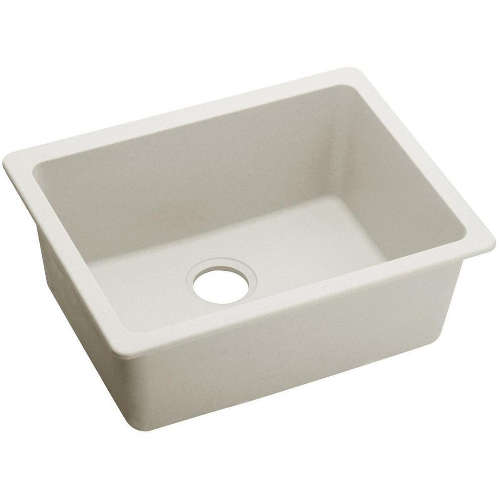 Elkay Quartz Luxe Undermount 25 In. Single Bowl Kitchen