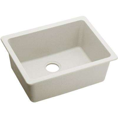 Quartz Luxe Undermount 25 in. Single Bowl Kitchen Sink in Ricotta