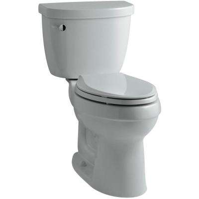 Cimarron Comfort Height 2-piece 1.6 GPF Single Flush Elongated Toilet with AquaPiston Flushing Technology in Ice Grey