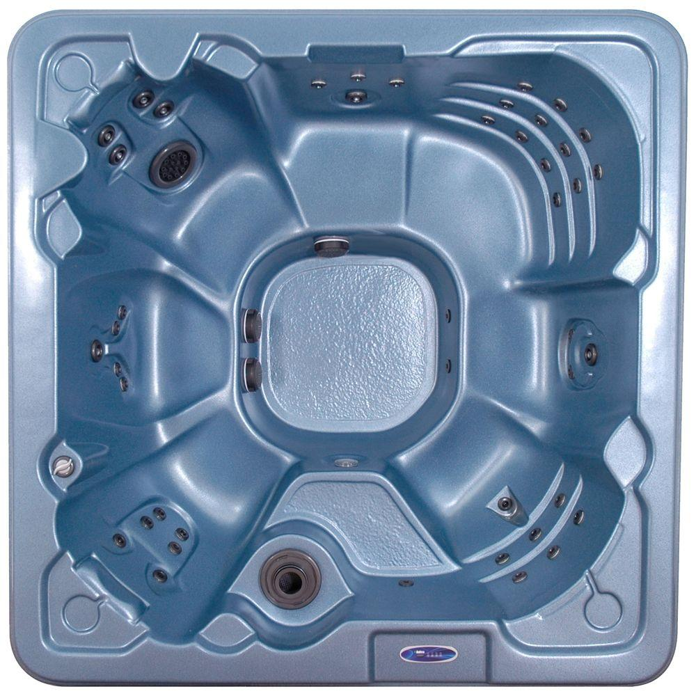 QCA Spas Salerno 8-Person 60-Jet Spa with Ozonator, LED Light, Polar Insulation, Collar Jets and Hard Cover