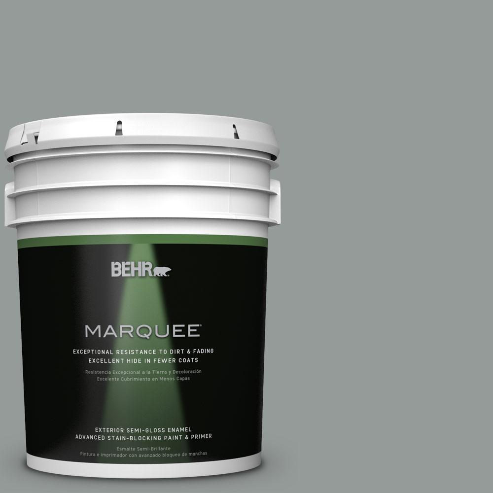 BEHR MARQUEE 5-gal. #BXC-66 Dusk Blue Semi-Gloss Enamel Exterior Paint
