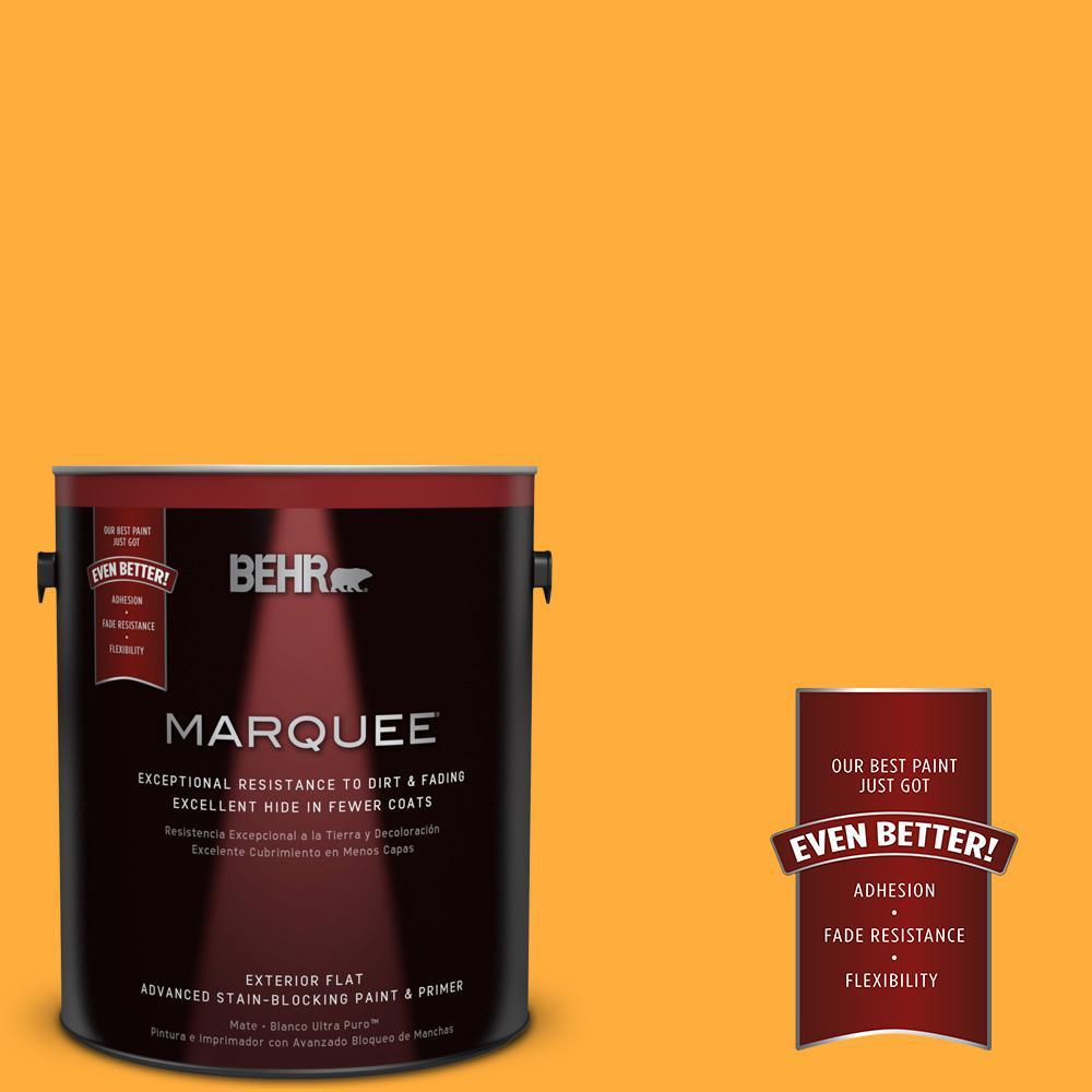 BEHR MARQUEE 1-gal. #S-G-310 Peach Butter Flat Exterior Paint