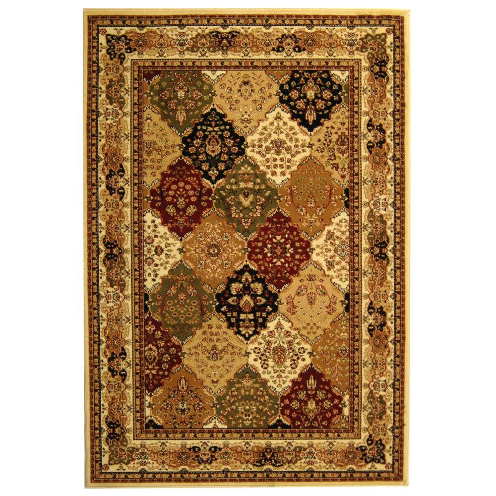 Lyndhurst Multi/Ivory 6 ft. x 9 ft. Area Rug