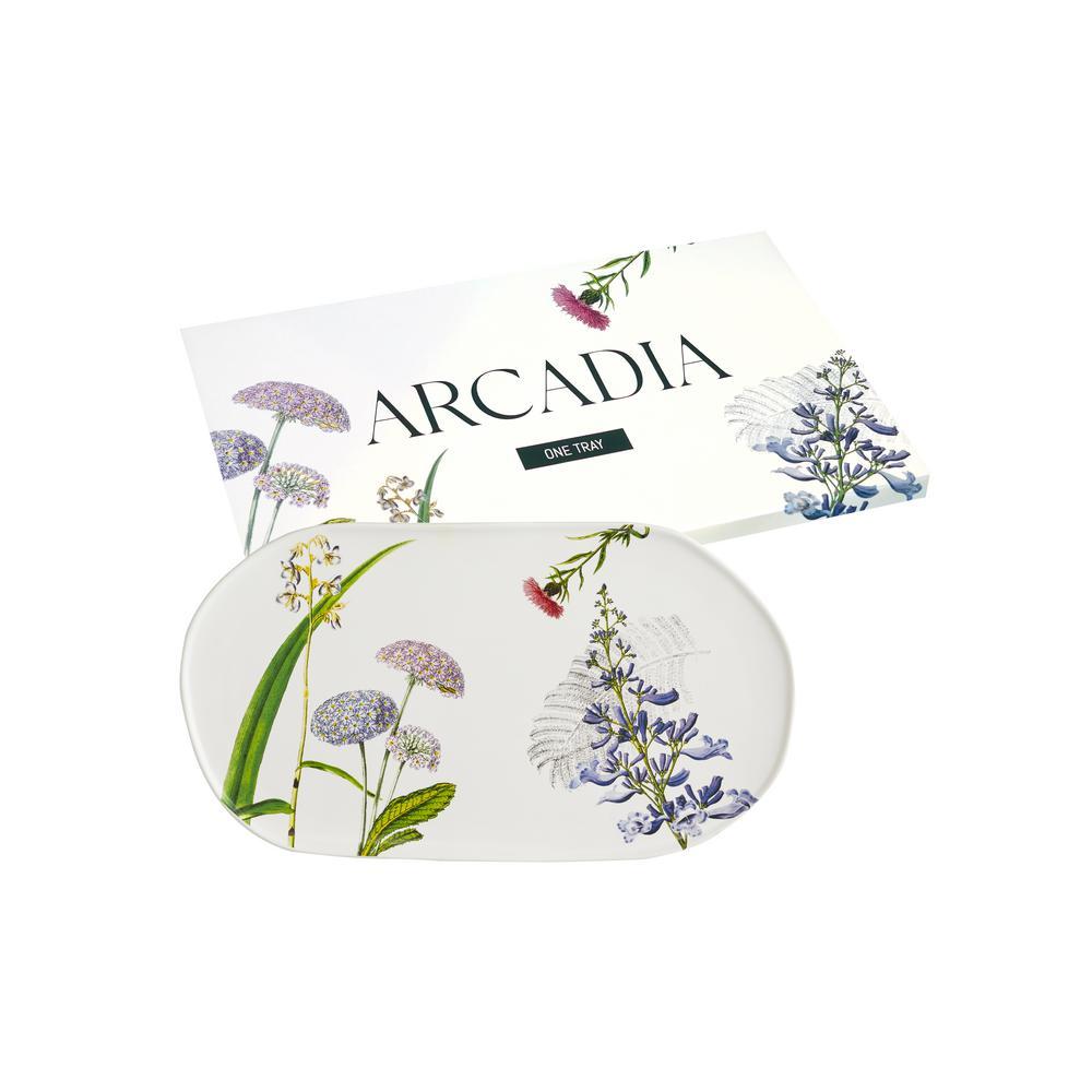 Arcadia 14 in. Ceramic Oval Tray