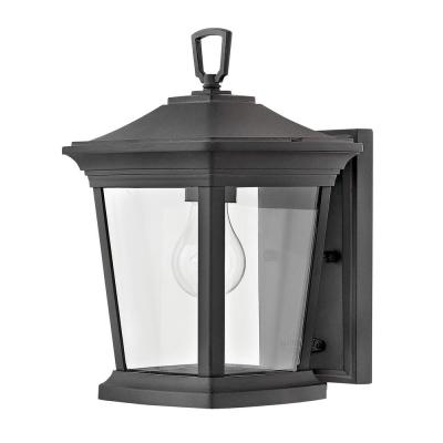 Bromley Extra Small 1-Light Museum Black Outdoor Wall Light Sconce
