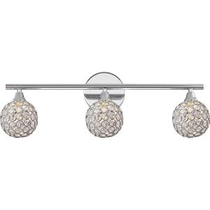 Shimmer 3-Light Polished Chrome Vanity Light