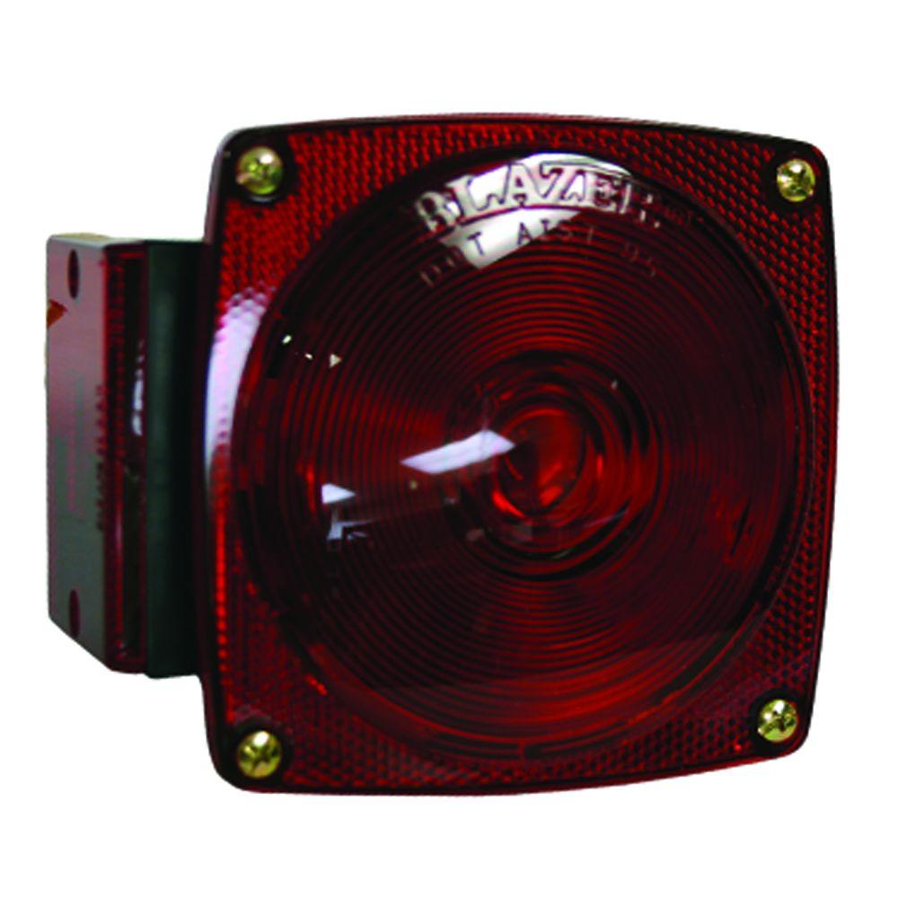 Blazer International Stop/Tail/Turn 4-9/16 in. 7 Function Combination Square Lamp Red for Under 80 in. Applications