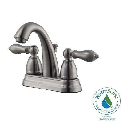 Hathaway 4 in. Centerset 2-Handle Bathroom Faucet in Satin Nickel