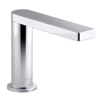Composed AC-Powered Single Hole Touchless Bathroom Faucet with Kinesis Sensor Technology and Mixer in Polished Chrome