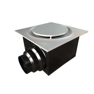 Low Profile 80 CFM Quiet Ceiling Bathroom Ventilation Fan 0.4 Sones Satin Nickel