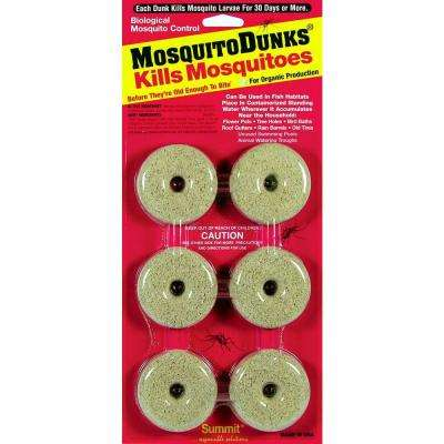12 in. Mosquito Dunks (6-Pack)