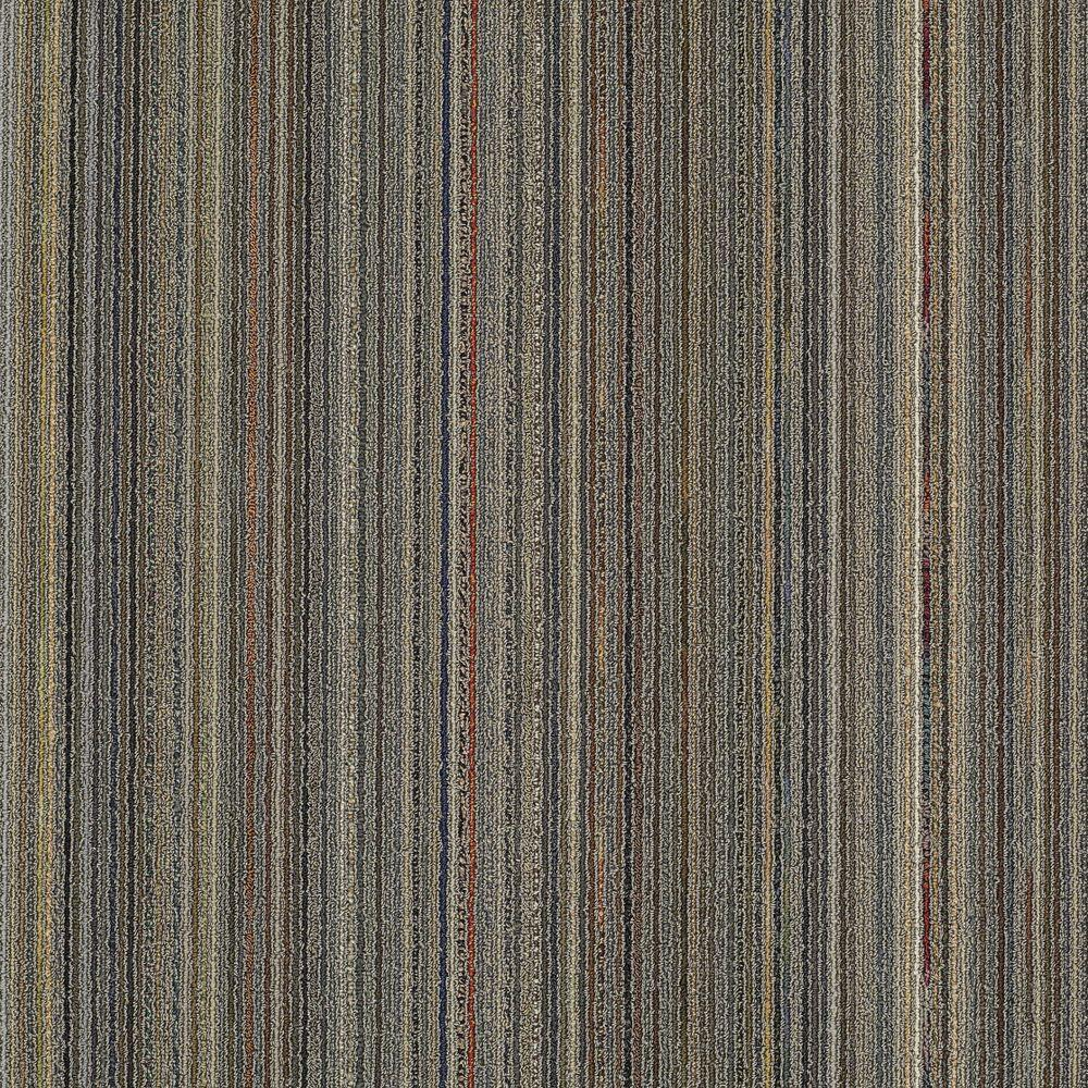 Assembler Warm Gray Loop 24 in. x 24 in. Modular Carpet