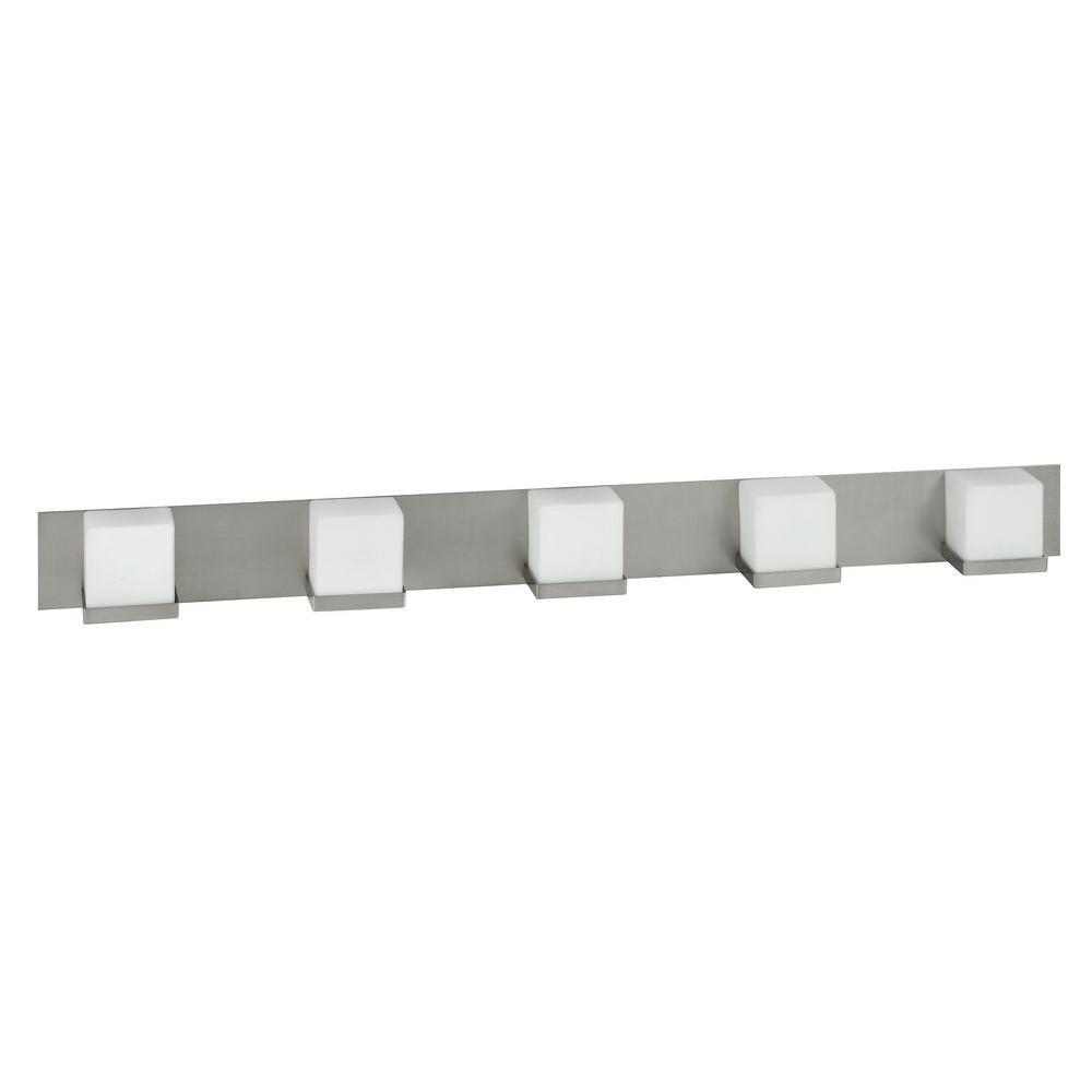 Tech Lighting Home Depot: Radionic Hi Tech Orly 5-Light Satin Nickel Vanity Light-VA