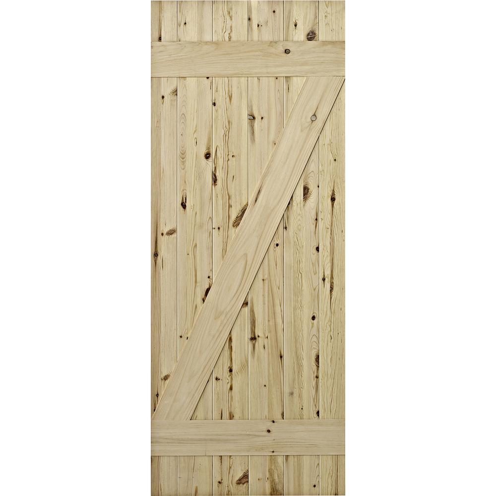 Captivating Cellar Natural Laminated Rustic Knotty Pine Barn Door To