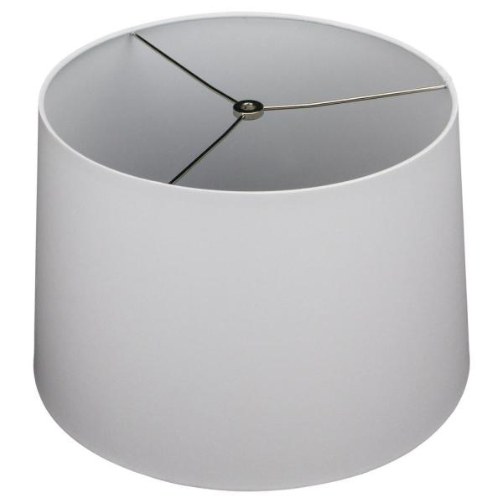 Fenchel Shades 13 in. Top Diameter x 15 in. Bottom Diameter x 10 in. Slant,  Empire Lamp Shade - Linen Silver
