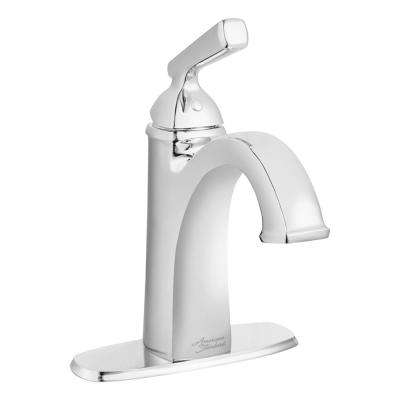 Edgemere Single Hole Single-Handle Bathroom Faucet with Metal Speed Connect Drain in Chrome
