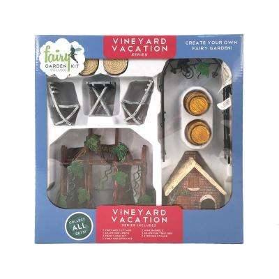 Vineyard Vacation Polyresin Fairy Garden Kit 13 Piece