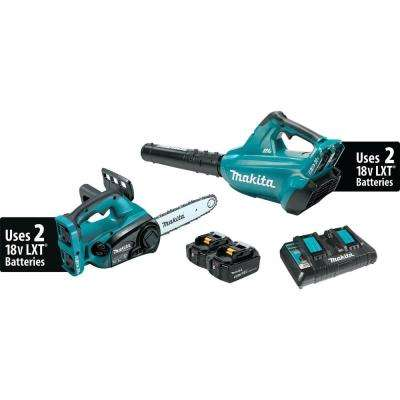18-Volt X2 (36-Volt) LXT Lithium-Ion Cordless 2-Piece Combo Kit (Blower and Chain Saw) 4.0Ah