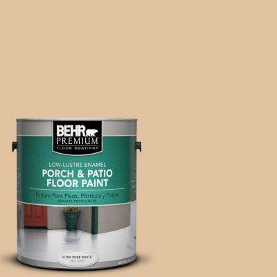 1 gal. #S300-3 Almond Cookie Low-Lustre Porch and Patio Floor Paint