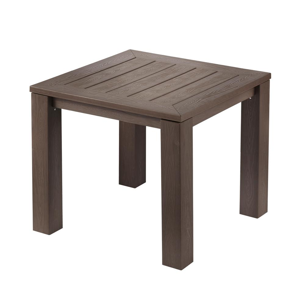 Hampton bay tacana square all weather faux wood outdoor bistro table hampton bay tacana square all weather faux wood outdoor bistro table watchthetrailerfo