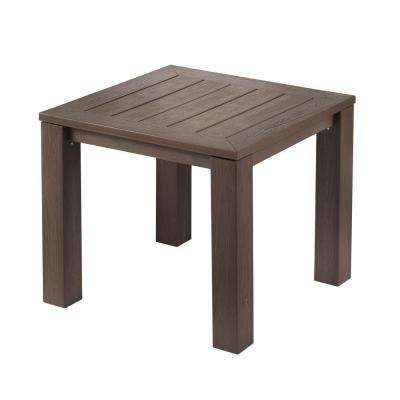 Tacana Square All Weather Faux Wood Outdoor Bistro Table