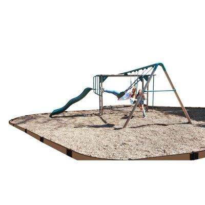 One Inch Series 16 ft. Weathered Wood Composite Curved Playground Border