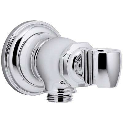 Artifacts Wall-Mount Handshower Holder and Supply Elbow in Polished Chrome