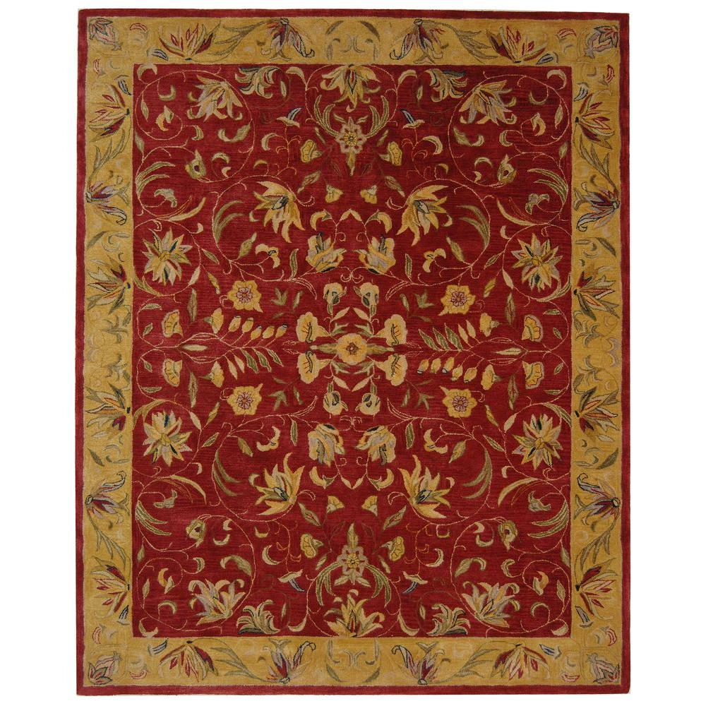 Safavieh Anatolia Burgundy/Gold 9 ft. 6 in. x 13 ft. 6 in. Area Rug
