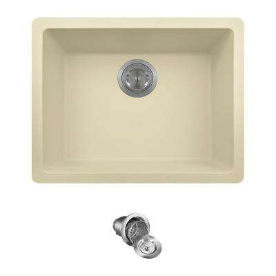 All-in-One Dualmount Composite 22 in. Single Bowl Kitchen Sink in Beige