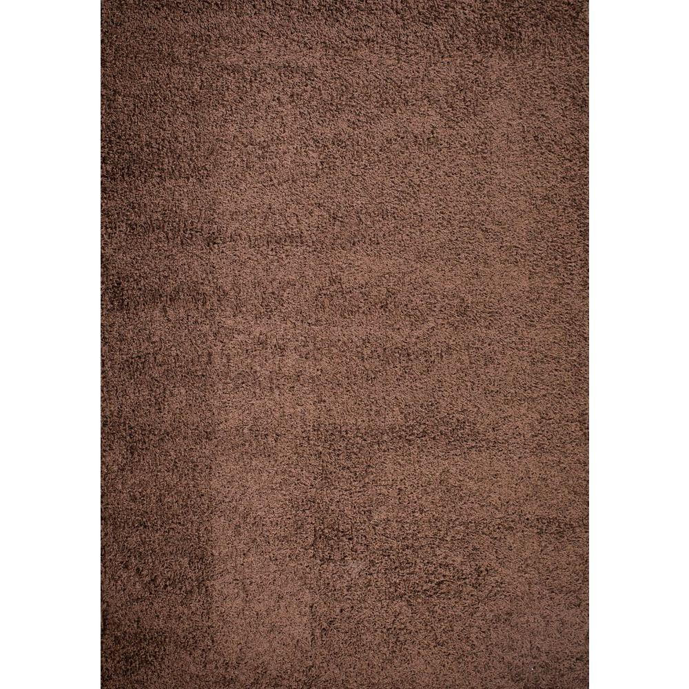 Shaggy Plain Brown 5 ft. x 7 ft. Area Rug