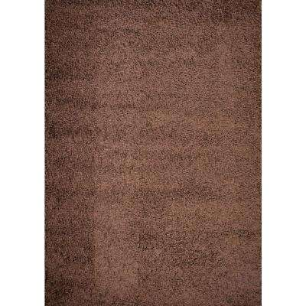 Shaggy Plain Brown 5 ft. x 7 ft. Area Rug
